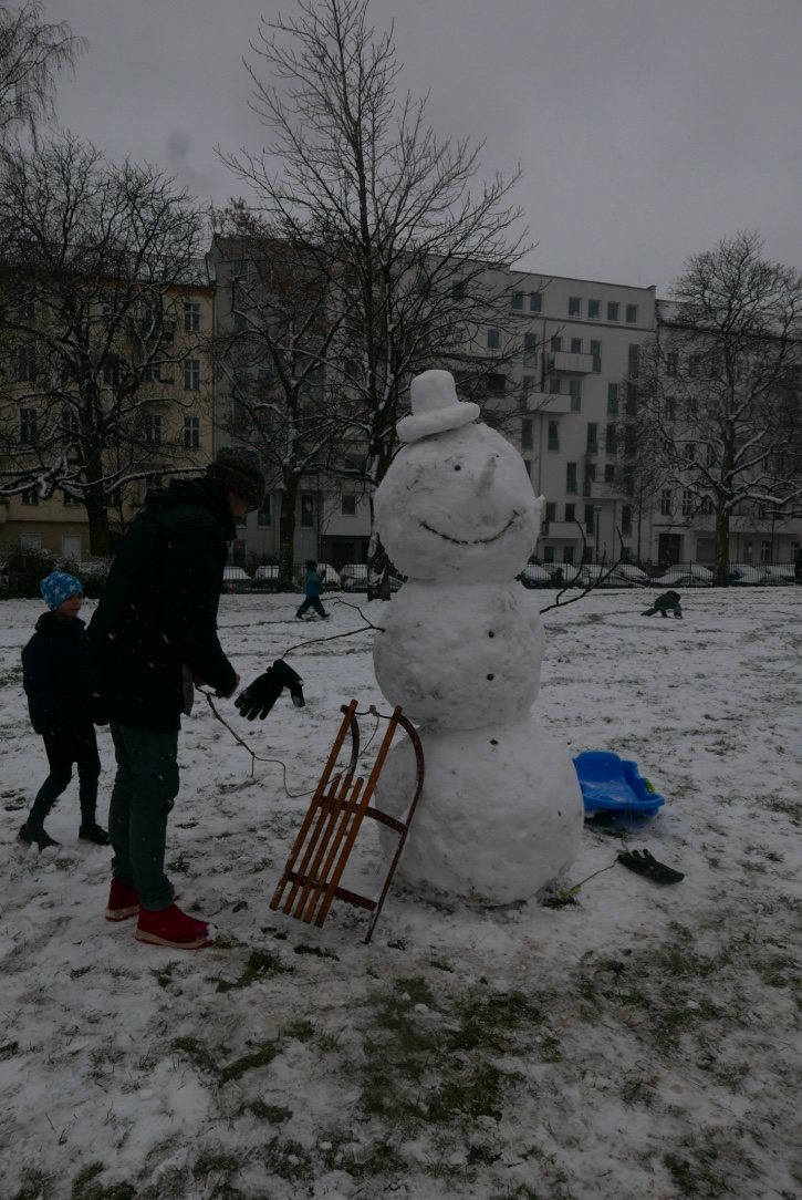 Snow man in the Park
