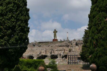 Overlooking the ruins